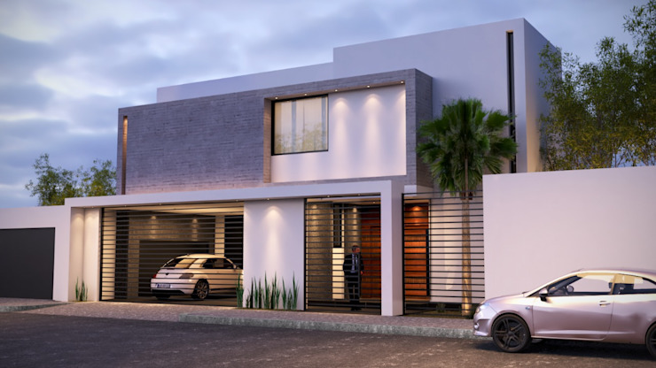 CASA S+V arquitectura+proyectos Fincas Concreto Blanco