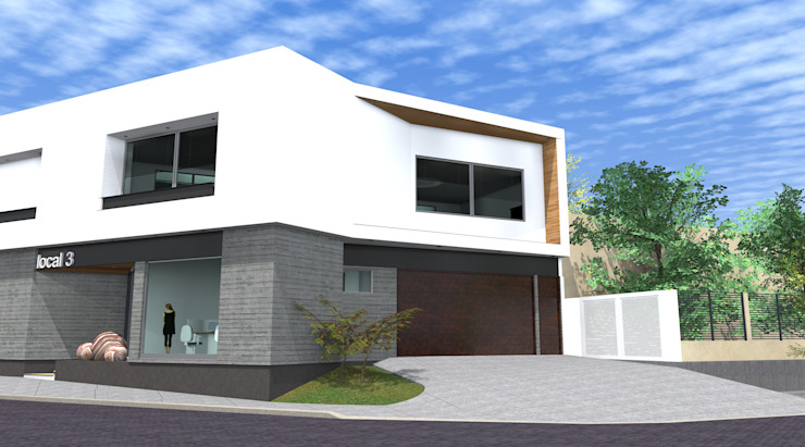 Espaços de trabalho minimalistas por arquitectura+proyectos Minimalista Betão armado