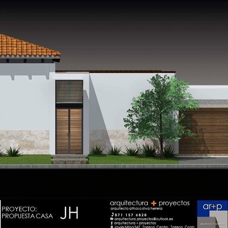 arquitectura+proyectos Maisons modernes Béton armé Blanc