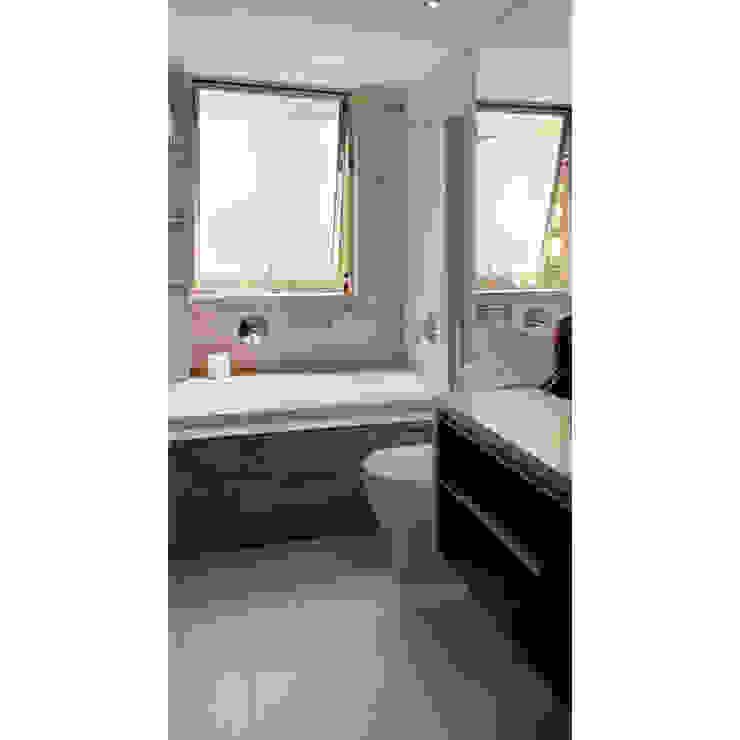 Reconstrucción de baño, Lo Recabarren Baños de estilo moderno de Crescente Böhme Arquitectos Moderno Piedra