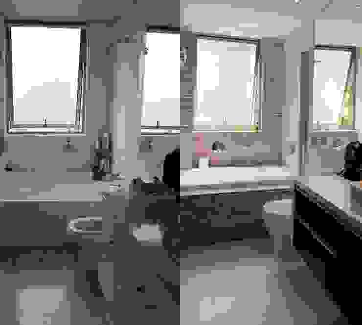 Reconstrucción de baño, Lo Recabarren de Crescente Böhme Arquitectos Moderno
