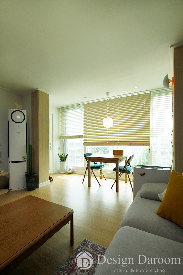 암사동 한강포스파크 25py 거실 스칸디나비아 거실 by Design Daroom 디자인다룸 북유럽