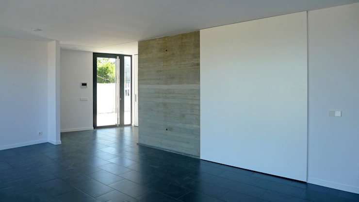 AD+ arquitectura Modern Living Room Concrete White
