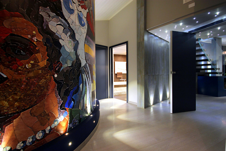 Studio Ferlenda Mediterranean corridor, hallway & stairs