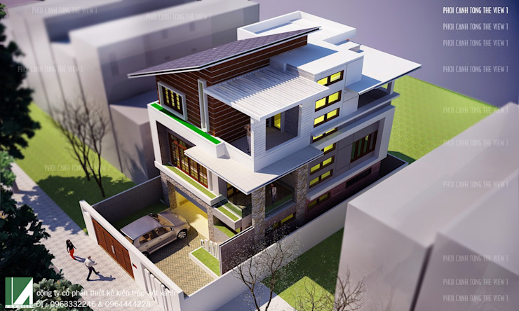 BIỆT THỰ HIỆN ĐẠI 3 TẦNG . THỦY NGUYÊN , HẢI PHÒNG bởi Kiến trúc Việt Xanh