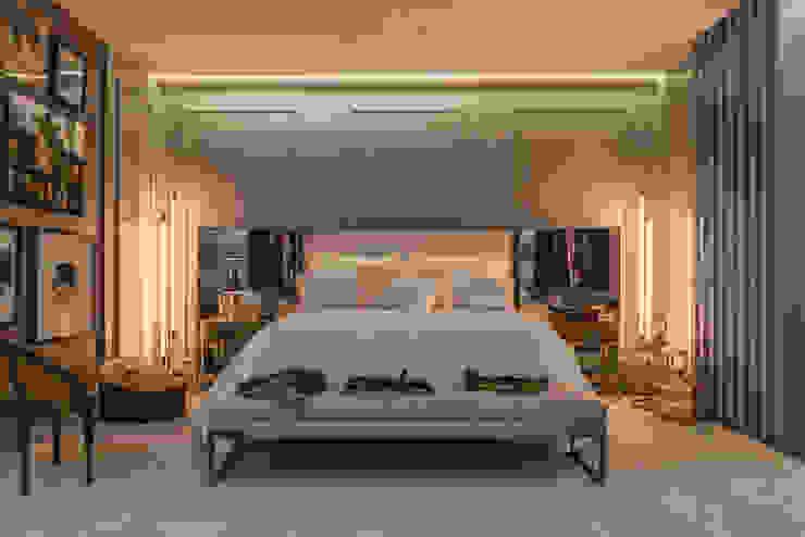 Elaine Ramos | Arquitetos Associados ห้องนอน