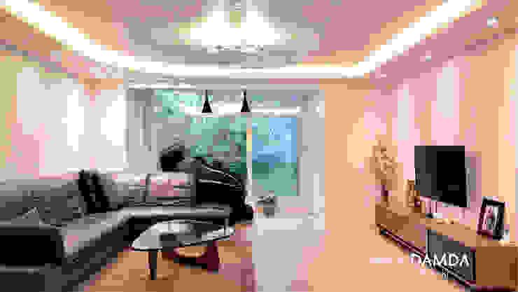 강남구 압구정동 현대아파트 48평 모던스타일 거실 by 디자인담다 모던