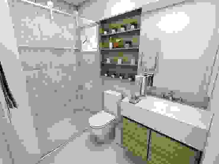 SUITE 01 Studio M Arquitetura Banheiros clássicos