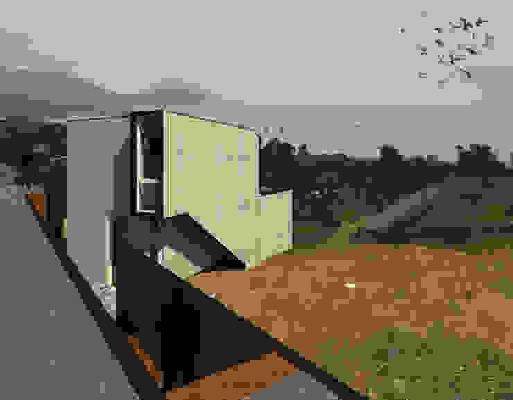 Hotel y Cabañas Guanaqueros Casas estilo moderno: ideas, arquitectura e imágenes de Crescente Böhme Arquitectos Moderno Aluminio/Cinc