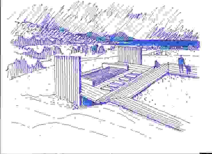 Piscina de Crescente Böhme Arquitectos Moderno