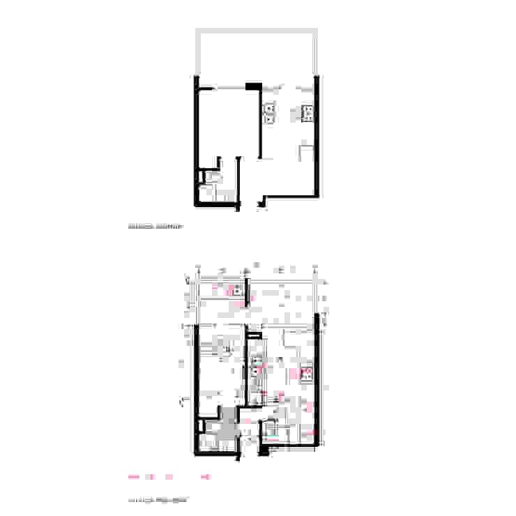 Situación existente y Propuesta, Cocina de Crescente Böhme Arquitectos Moderno
