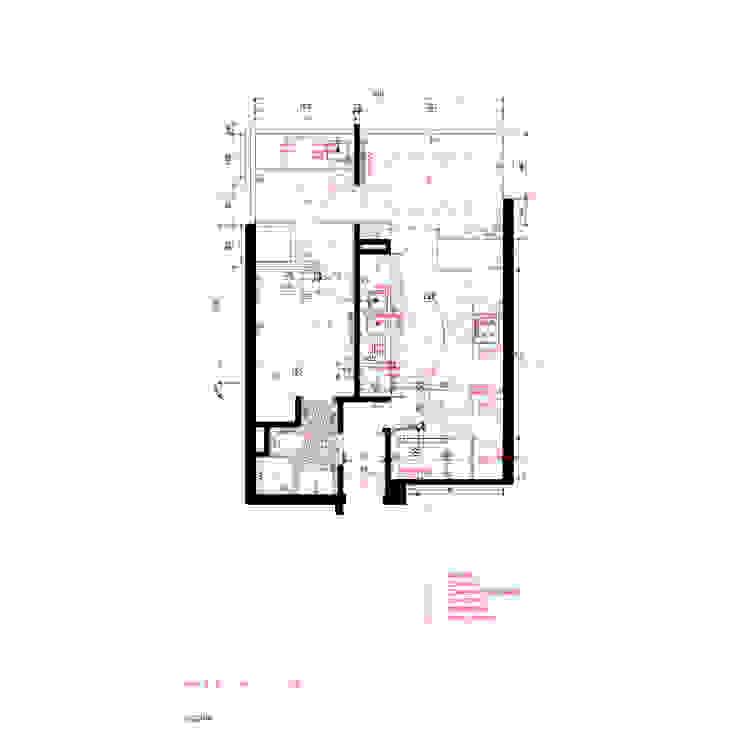 Planta Cocina de Crescente Böhme Arquitectos Moderno