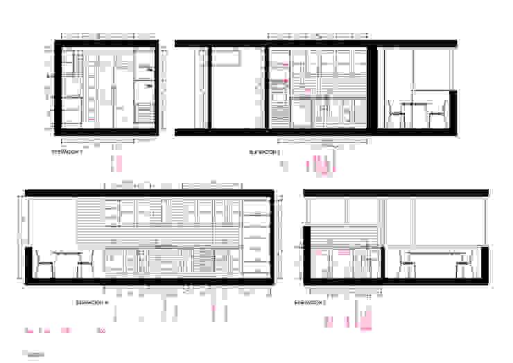 Elevaciones Cocina de Crescente Böhme Arquitectos Moderno