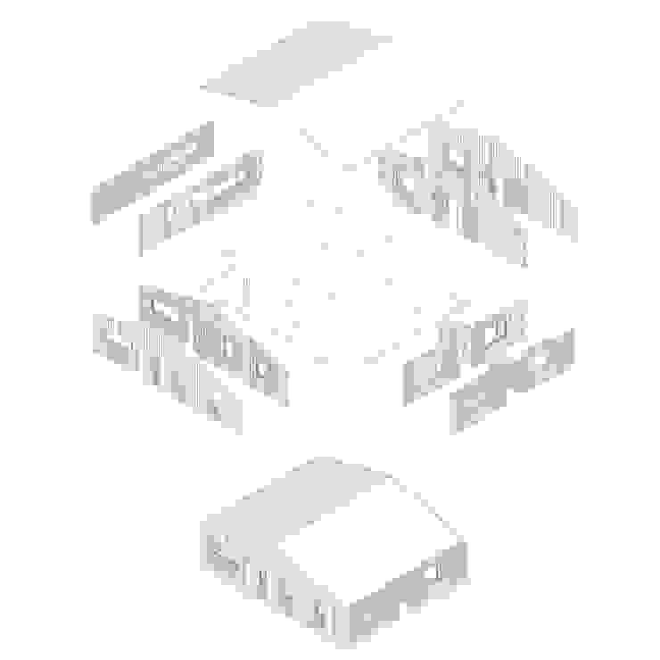 Casa envuelta en madera de Crescente Böhme Arquitectos Rústico
