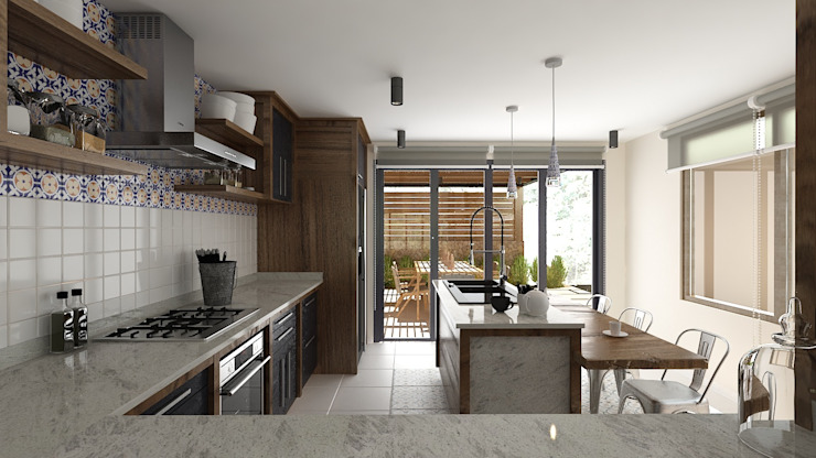 Built-in kitchens by Soma & Croma, Eclectic Solid Wood Multicolored