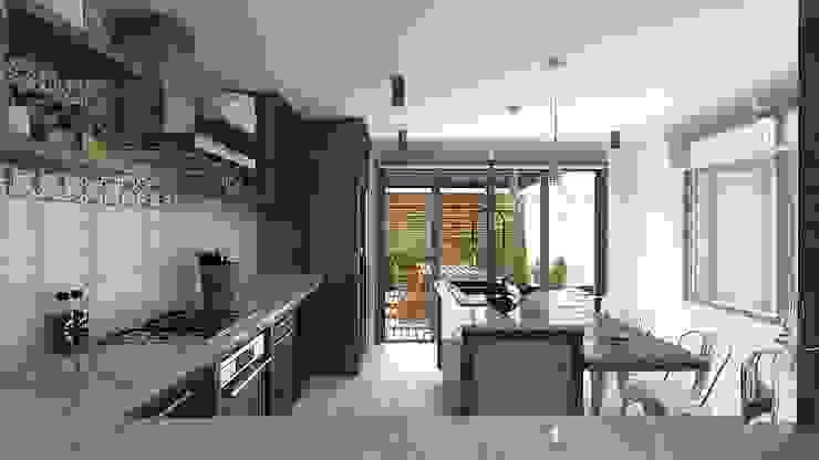 Casa Naranjos 32: Cocinas equipadas de estilo  por Soma & Croma,