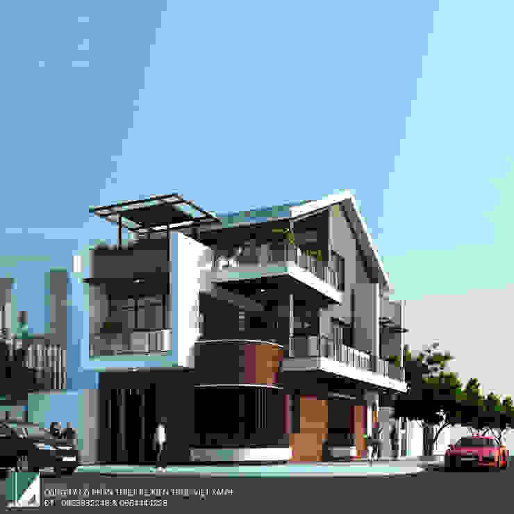 BIỆT THỰ 3 TẦNG LÔ GÓC MÁI NGÓI HIỆN ĐẠI bởi Kiến trúc Việt Xanh