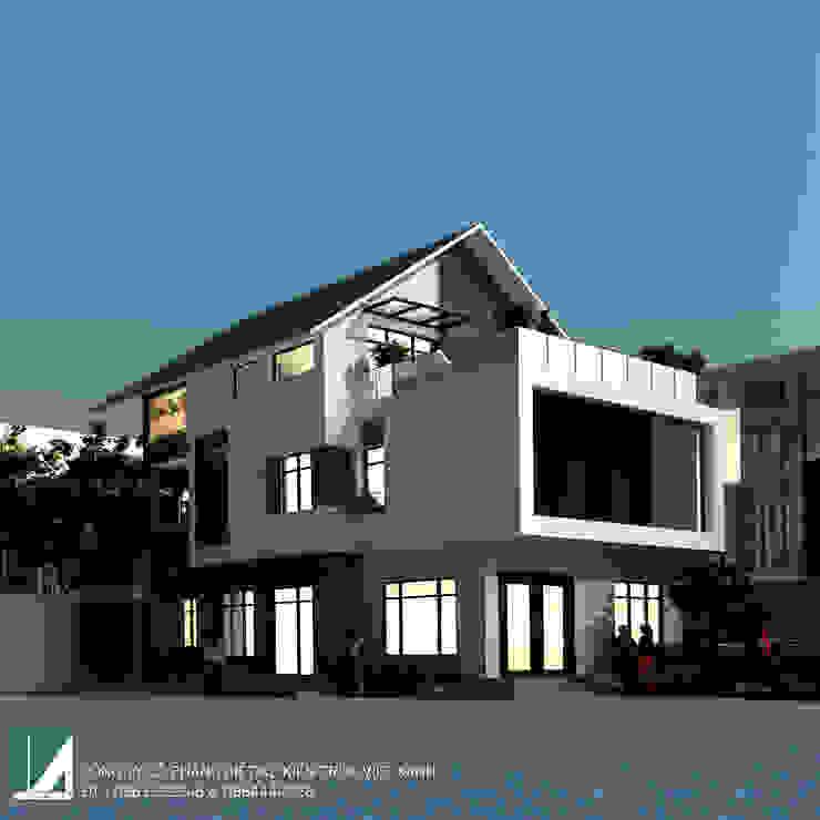 BIỆT THỰ 3 TẦNG MÁI THÁI HIỆN ĐẠI bởi Kiến trúc Việt Xanh