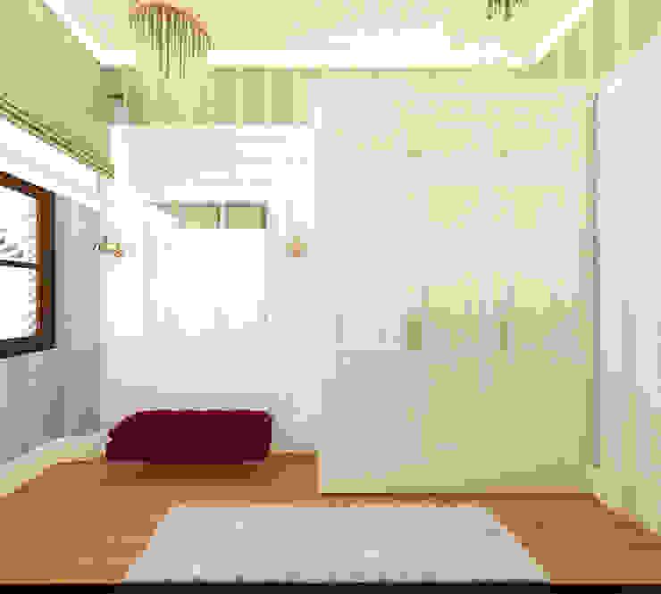 Giyinme odası bir açıdan görüntüsü Öykü İç Mimarlık Klasik Giyinme Odası