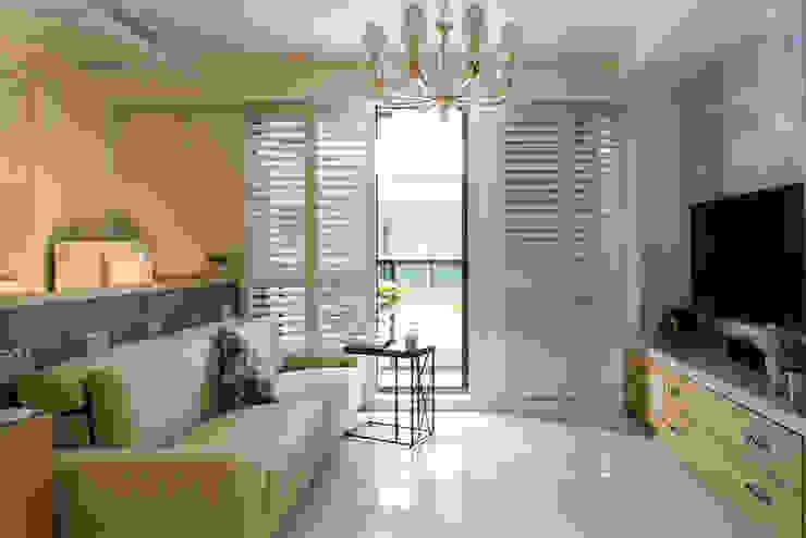 Salas de estar campestres por 松泰室內裝修設計工程有限公司 Campestre Azulejo