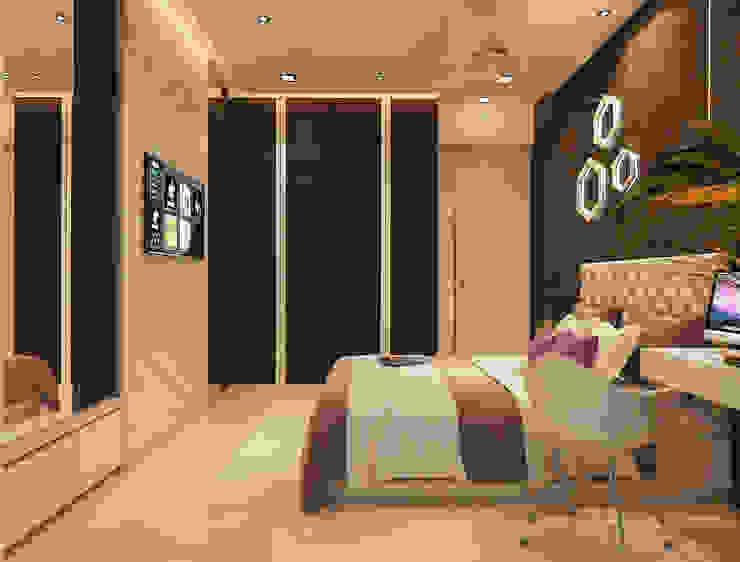 N design studio,Interior Designer Mumbai Dormitorios minimalistas