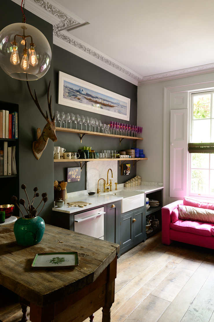 The Islington Townhouse by deVOL by deVOL Kitchens Eclectic Solid Wood Multicolored