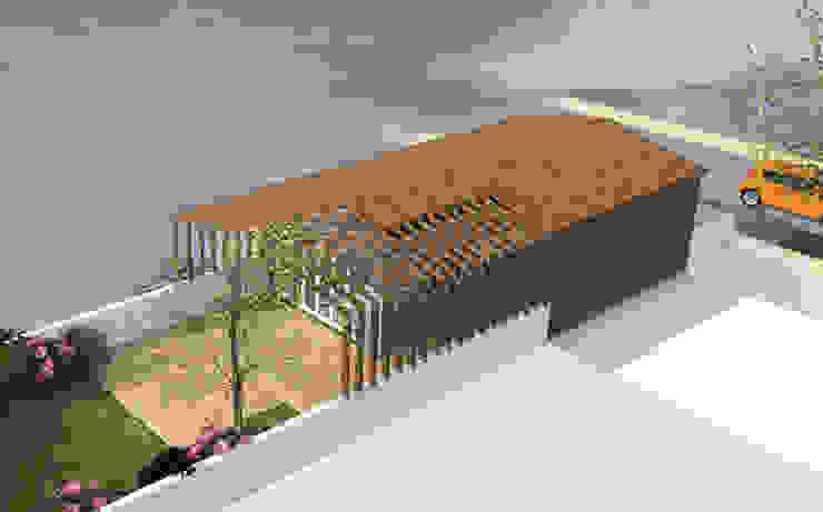 Sous la tonnelle - concept de maison de 50m2 avec terrasse par Kauri Architecture
