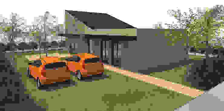 Bioclimatique - concept de maison de plain-pied de 90m2 avec 3 chambres par Kauri Architecture
