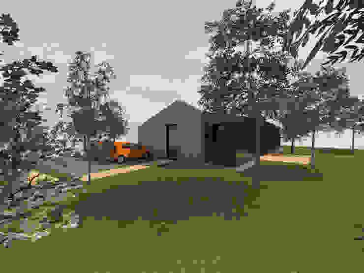 Continuité - concept de maison de 100m2 avec véranda par Kauri Architecture