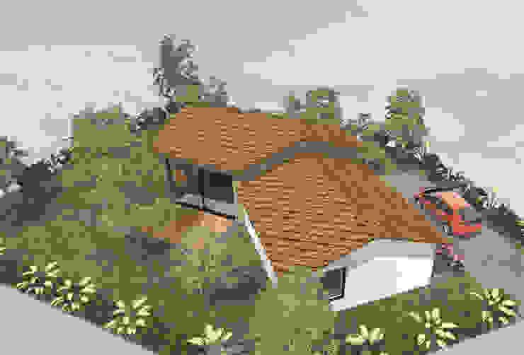 Maison de 100m2 en V - plain pied par Kauri Architecture