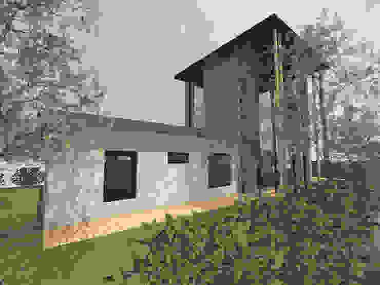 Tourelle - concept de maison de 150m2 avec une tour par Kauri Architecture