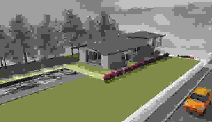 Paliers - concept de maison avec demi sous-sol par Kauri Architecture