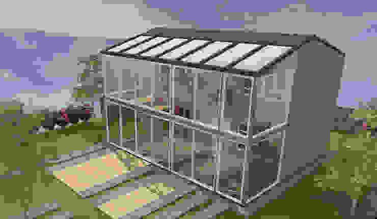 Serre tropicale - concept de maison avec serre par Kauri Architecture