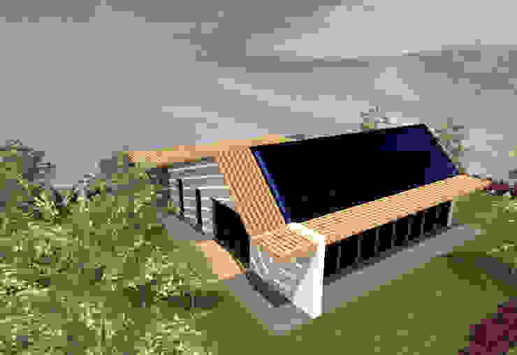 Bioclimatique - concept de maison bioclimatique de plain-pied par Kauri Architecture