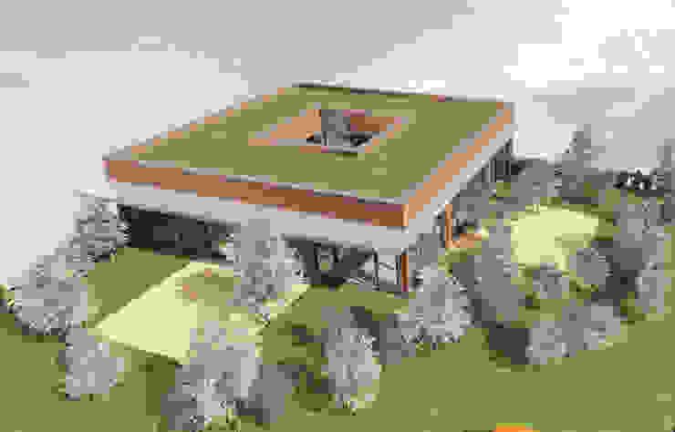 Cube - concept de maison cubique avec patio par Kauri Architecture