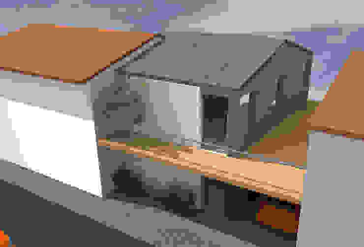 En ville - concept de maison de ville avec balcon par Kauri Architecture