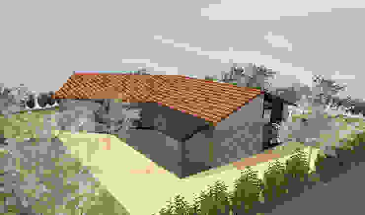 Pierre contemporaine - concept de maison en pierre de plain-pied de 70m2 par Kauri Architecture
