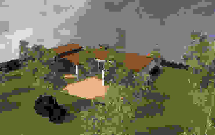 Plein Sud - concept de maison en U avec terrasse par Kauri Architecture