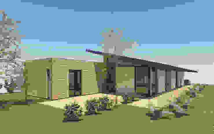 Tout en longueur - concept de maison moderne 120m2 par Kauri Architecture