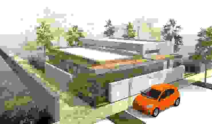 Contemporaine et durable - concept de maison à toit plat de 110m2 par Kauri Architecture