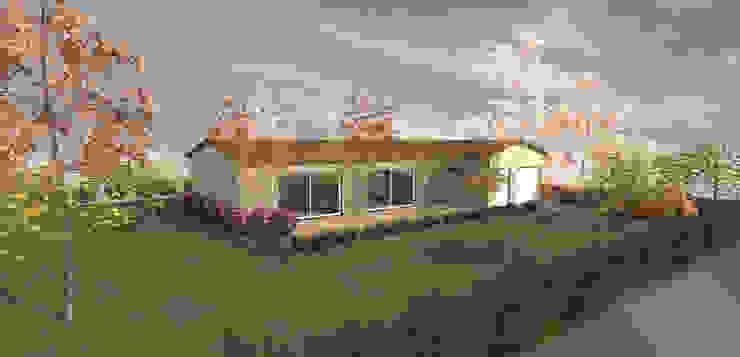 Sur jardin - concept de maison traditionnelle 120m2 par Kauri Architecture