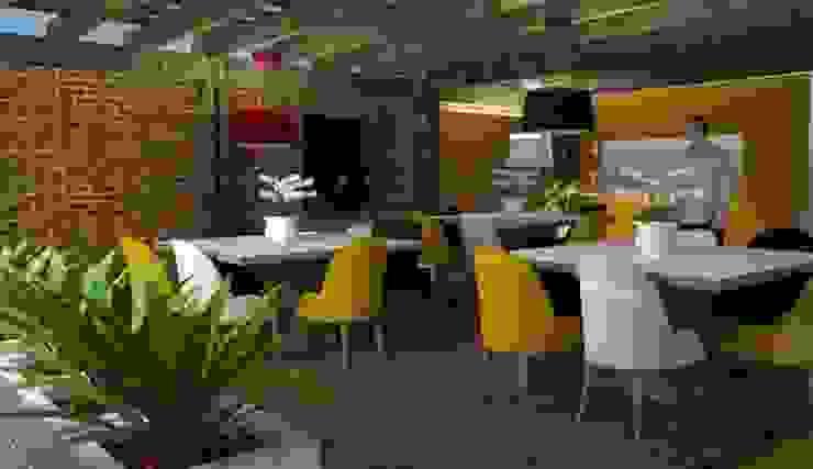 Comedor Comedores de estilo escandinavo de Fire Design AR Escandinavo Ladrillos