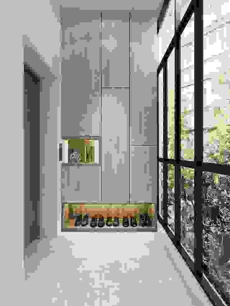 Touch of Luxury Modern corridor, hallway & stairs by Singapore Carpentry Interior Design Pte Ltd Modern