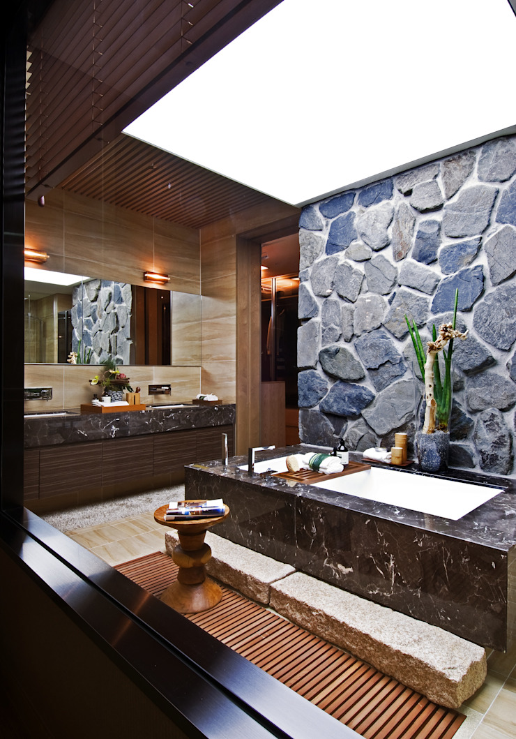 Aratrium 에클레틱 욕실 by Design Tomorrow INC. 에클레틱 (Eclectic)