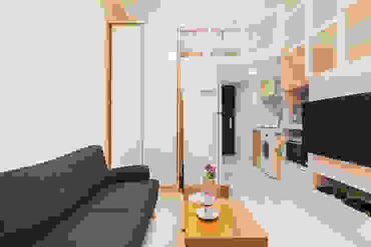 夾層設計 甜蜜機能小宅: 現代  by 好室佳室內設計, 現代風
