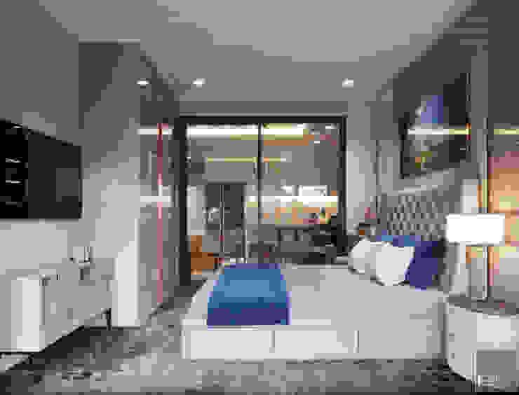 THIẾT KẾ TÂN CỔ ĐIÊN CHO CĂN HỘ TỌA ĐỘ LANDMARK 81 Phòng ngủ phong cách kinh điển bởi ICON INTERIOR Kinh điển