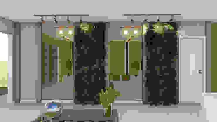 Recepção Studio² Corredores, halls e escadas modernos