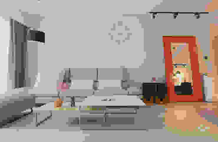 清晨的萊特-老屋翻新變身現代簡約居所 现代客厅設計點子、靈感 & 圖片 根據 酒窩設計 Dimple Interior Design 現代風