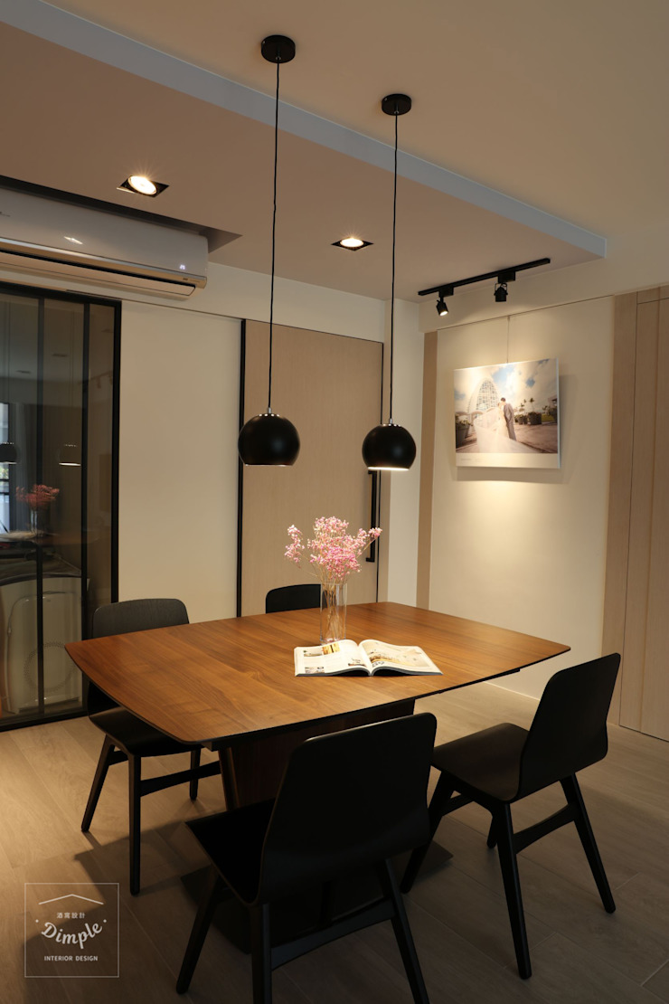 Modern Dining Room by 酒窩設計 Dimple Interior Design Modern Wood-Plastic Composite