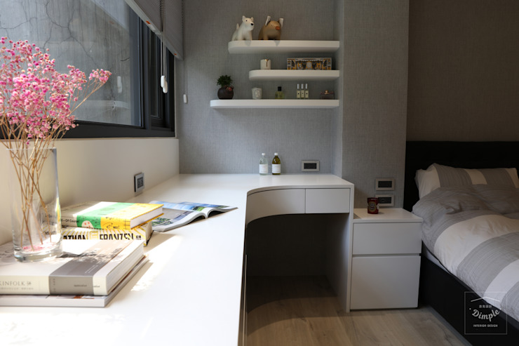 Modern Bedroom by 酒窩設計 Dimple Interior Design Modern Wood-Plastic Composite
